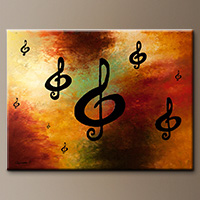 Abstract Art Painting - G Rhapsody - Art Canvas