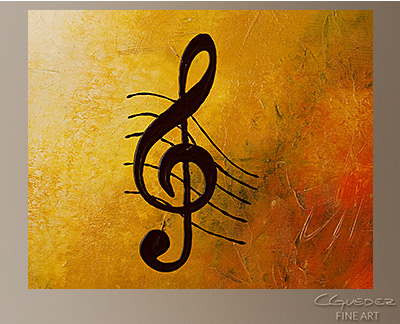 G Symphony Modern Abstract Art Painting -Wall Art Close Up