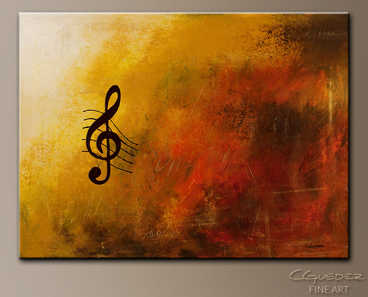 G Symphony - Abstract Art Painting Image by Carmen Guedez