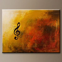 Abstract Art Paintings - G Symphony - Wall Art