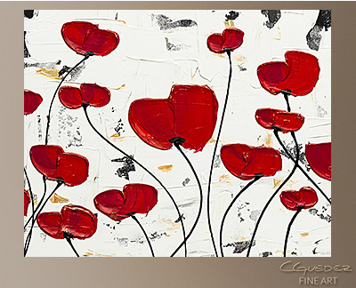 Garden of Hope Modern Abstract Art Painting -Wall Art Close Up