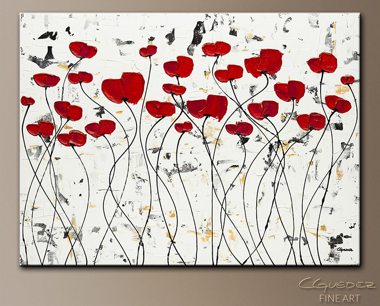 Garden of Hope - Abstract Art Painting Image by Carmen Guedez
