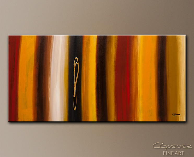 Golden Hour - Abstract Art Painting Image by Carmen Guedez