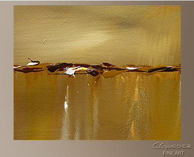 Golden Rule Modern Abstract Art Painting -Wall Art Close Up