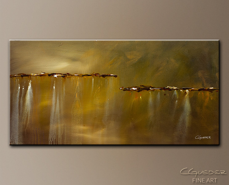 Golden Rule - Abstract Art Painting Image by Carmen Guedez