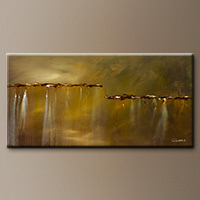 Abstract Art on Canvas - Golden Rule - Art Canvas