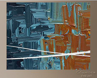 Good Feeling Modern Abstract Art Painting -Wall Art Close Up
