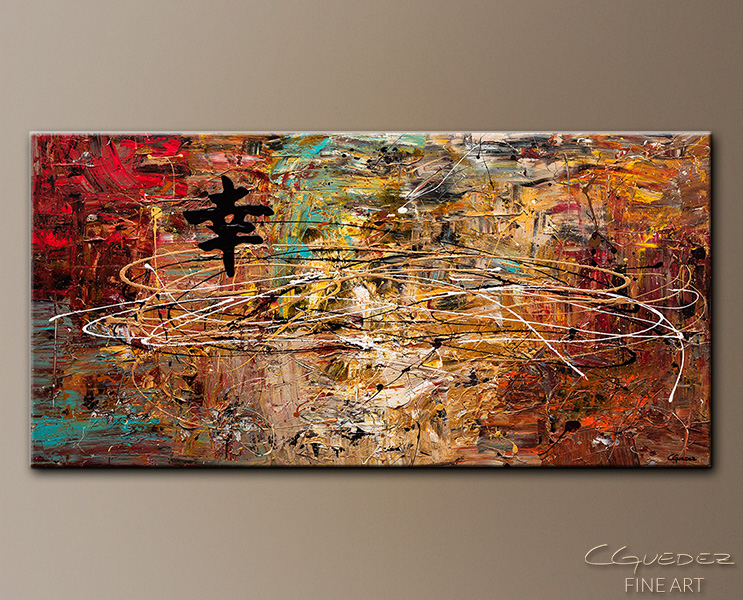 Good Fortune - Abstract Art Painting Image by Carmen Guedez