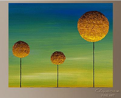 Good Morning World Modern Abstract Art Painting -Wall Art Close Up