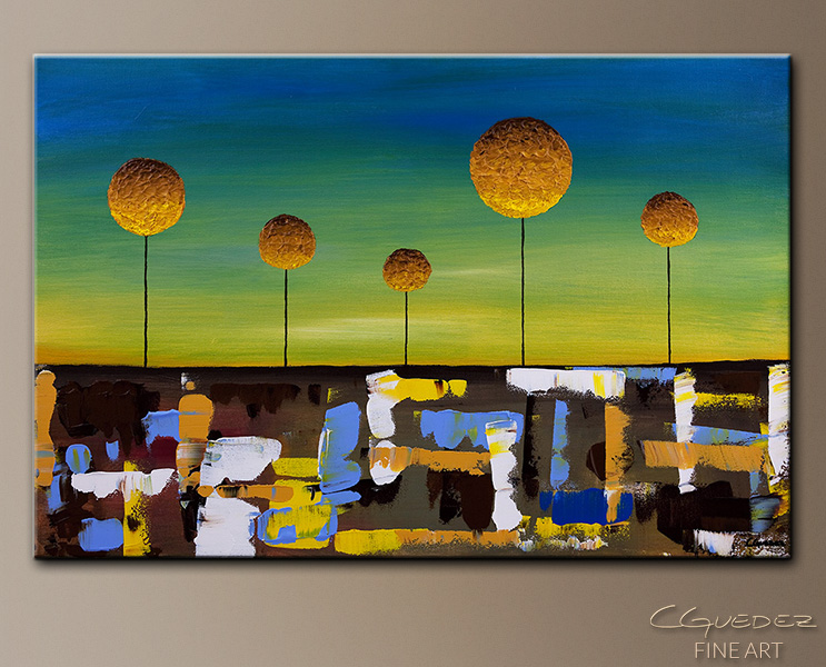 Good Morning World - Abstract Art Painting Image by Carmen Guedez
