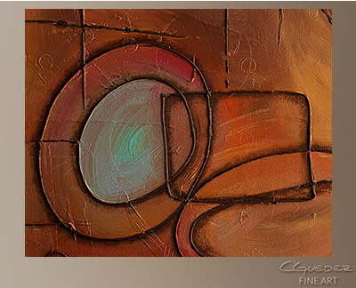 Googlit Modern Abstract Art Painting -Wall Art Close Up