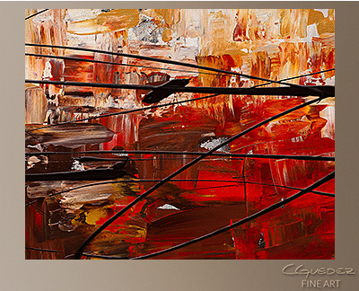 Grand Vision Modern Abstract Art Painting -Wall Art Close Up