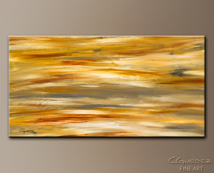 Gray and Sienna - Abstract Art Painting Image by Carmen Guedez