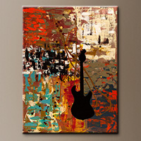Guitar Quest-Flowers Art Gallery-Abstract Art Paintings Image