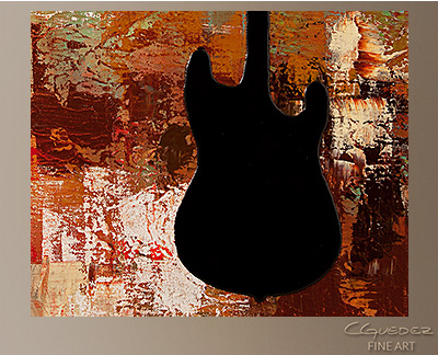 Guitar Solo Modern Abstract Art Painting -Wall Art Close Up
