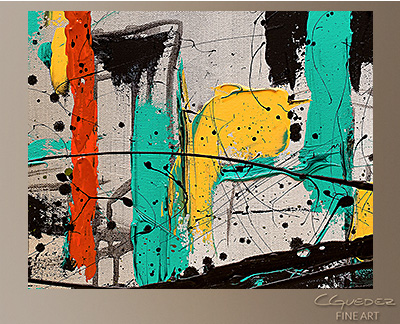 Hashtag City Modern Abstract Art Painting -Wall Art Close Up