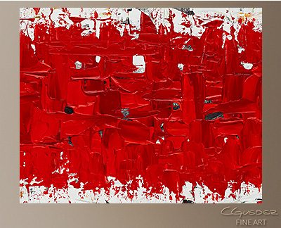 Hashtag Red Modern Abstract Art Painting -Wall Art Close Up