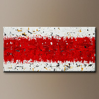 Original Canvas Art - Hashtag Red - Canvas Painting