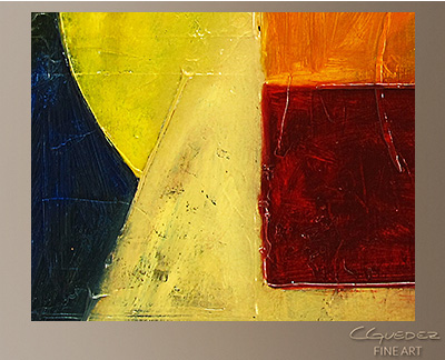 Hidden Lines Modern Abstract Art Painting -Wall Art Close Up