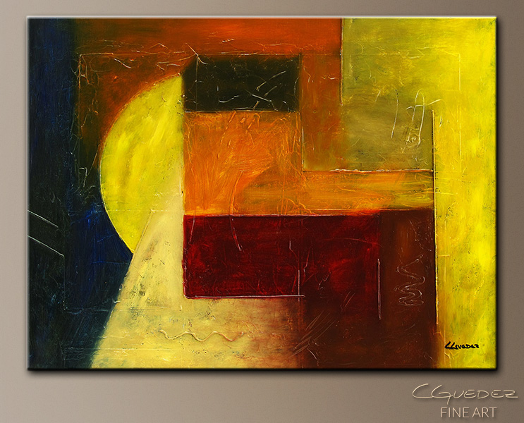 Hidden Lines - Abstract Art Painting Image by Carmen Guedez