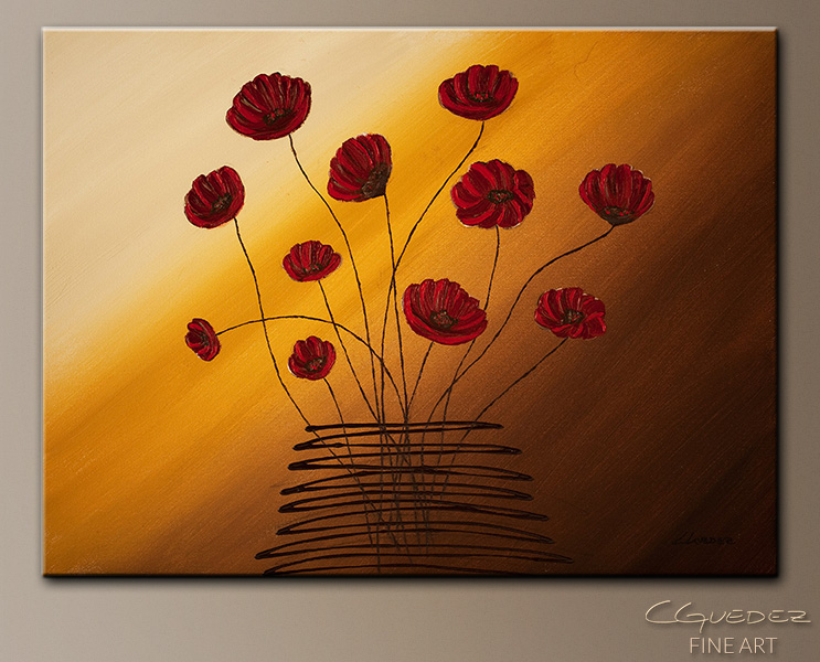 Hope Catcher - Abstract Art Painting Image by Carmen Guedez