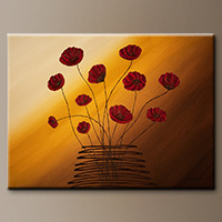 Flower Bouquet Abstract Art Painting - Hope Catcher - Original Painting