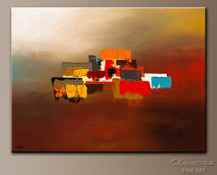 Horizon   Abstract Art Painting Image By Carmen Guedez