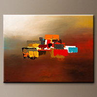 Contemporary Canvas Art Paintings - Horizon - Original Art