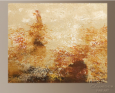 Horizonte Modern Abstract Art Painting -Wall Art Close Up