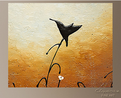 Humming Along Modern Abstract Art Painting -Wall Art Close Up