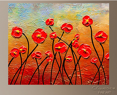 In Full Bloom Modern Abstract Art Painting -Wall Art Close Up