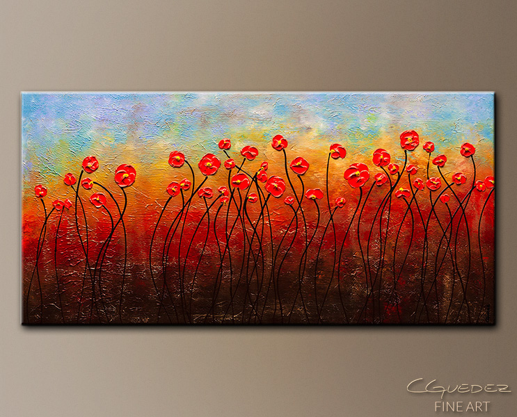 In Full Bloom - Abstract Art Painting Image by Carmen Guedez