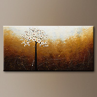 Floral Abstract Art Paintings - In like a Lamb - Art Painting