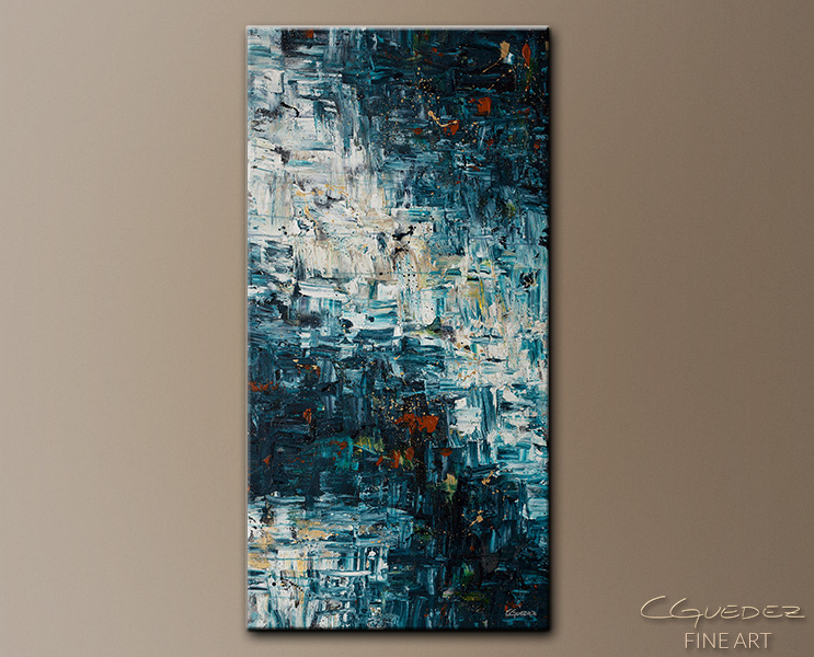 Island Falls - Abstract Art Painting Image by Carmen Guedez