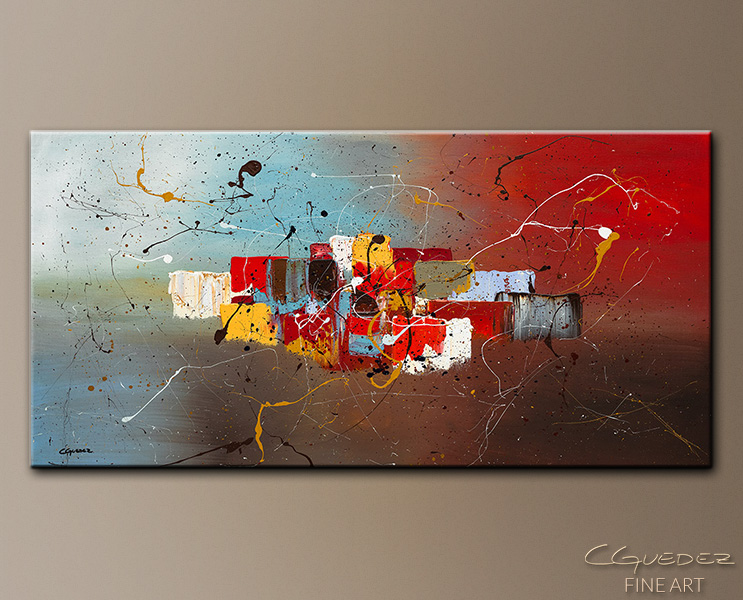 It's My Birthday - Abstract Art Painting Image by Carmen Guedez