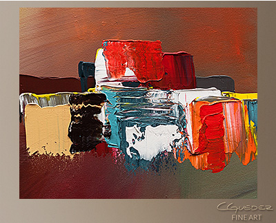 It's the Little Things Modern Abstract Art Painting -Wall Art Close Up