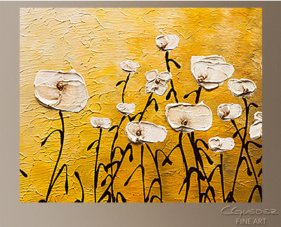 Jardin Botanique Modern Abstract Art Painting -Wall Art Close Up
