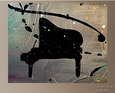 Jazz Night Modern Abstract Art Painting -Wall Art Close Up