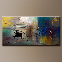 Abstract Art Music Paintings for Sale - Jazz Night - Art Gallery