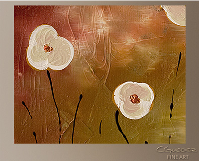 Joyce To The World Modern Abstract Art Painting -Wall Art Close Up