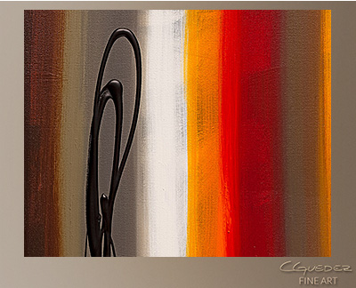 Juxtaposition Modern Abstract Art Painting -Wall Art Close Up