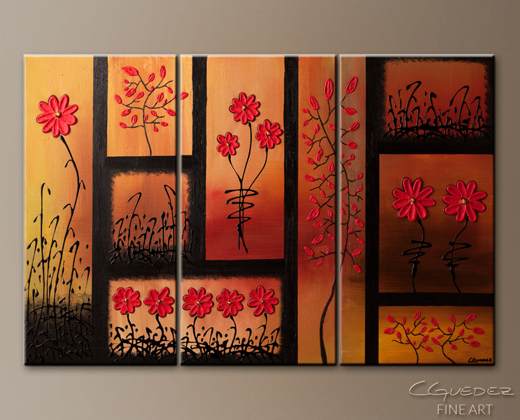 Original Abstract Painting for Sale La Vie en Rose - Abstract Wall ...