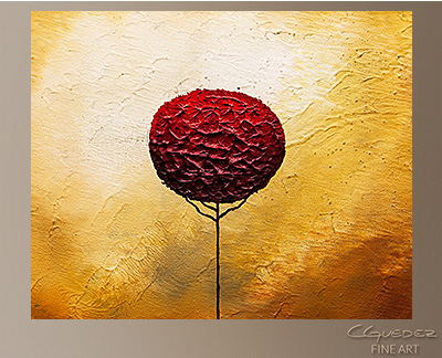La Vie est Belle Modern Abstract Art Painting -Wall Art Close Up