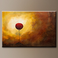 Landscape Abstract Art Painting - La Vie est Belle - Canvas Painting