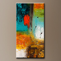 Vertical Abstract Painting - Landmarks - Modern Art