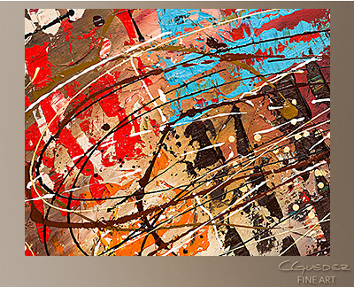Le Monde Modern Abstract Art Painting -Wall Art Close Up