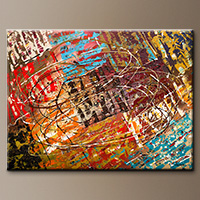 Oversized Abstract Art Painting - Le Monde - Wall Art
