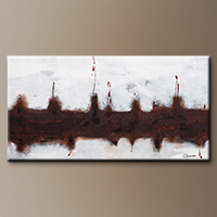 Huge Oversized Abstract Painting - Le Port - Art Canvas
