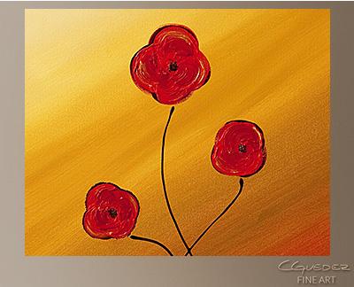 Les Fleurs Modern Abstract Art Painting -Wall Art Close Up