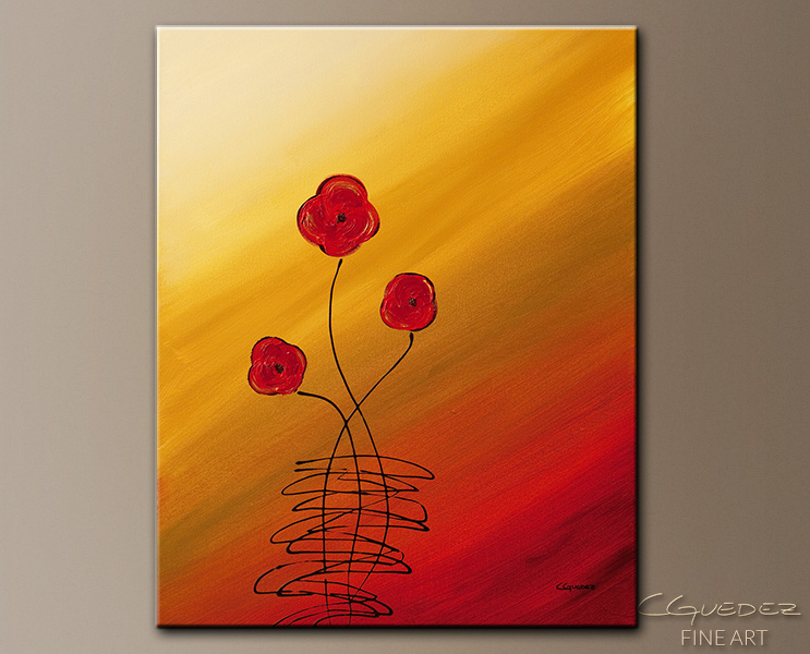 Les Fleurs - Abstract Art Painting Image by Carmen Guedez